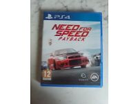 need for speed payback , ps4 , as new ! price stands , no offers !