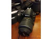 Nikon D3100 Digital SLR Camera including 3 lenses and home studio accessories