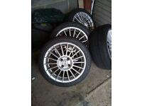 fox fx004 alloy wheels x4
