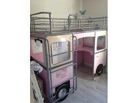 Girls pink van bunk bed