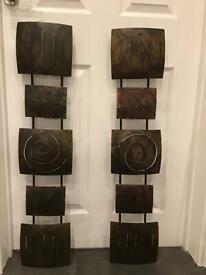 Metal sculptures x 2