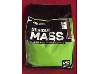 UNOPENED - Optimum Nutrition Serious Mass (5.4 kg) - Chocolate - Source of Protein