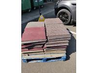 FREE Old used carpet tiles . Ideal for underlay , Shredding Bedding underlay