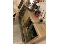 Dining table with a cabinet
