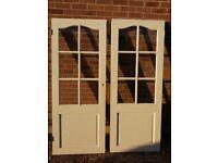 3 off white part glazed internal doors