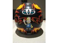 AGV open faced motorcycle helmet