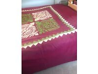Lovely Double Bedspread with Appliqué pattern