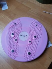 Pineapple Twist board with reflexology magnets and instructions.