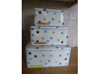 Emma Bridgewater Polka Dot Set of 3 Square Cake Tin