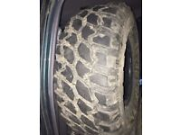 Four - Mud terrain 4 x 4 road and off road tyres – size 33 x 12.50 R15 LT 1080 MF