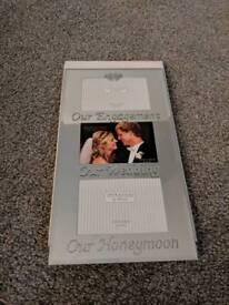 Engagement, wedding, mirrored photo frame
