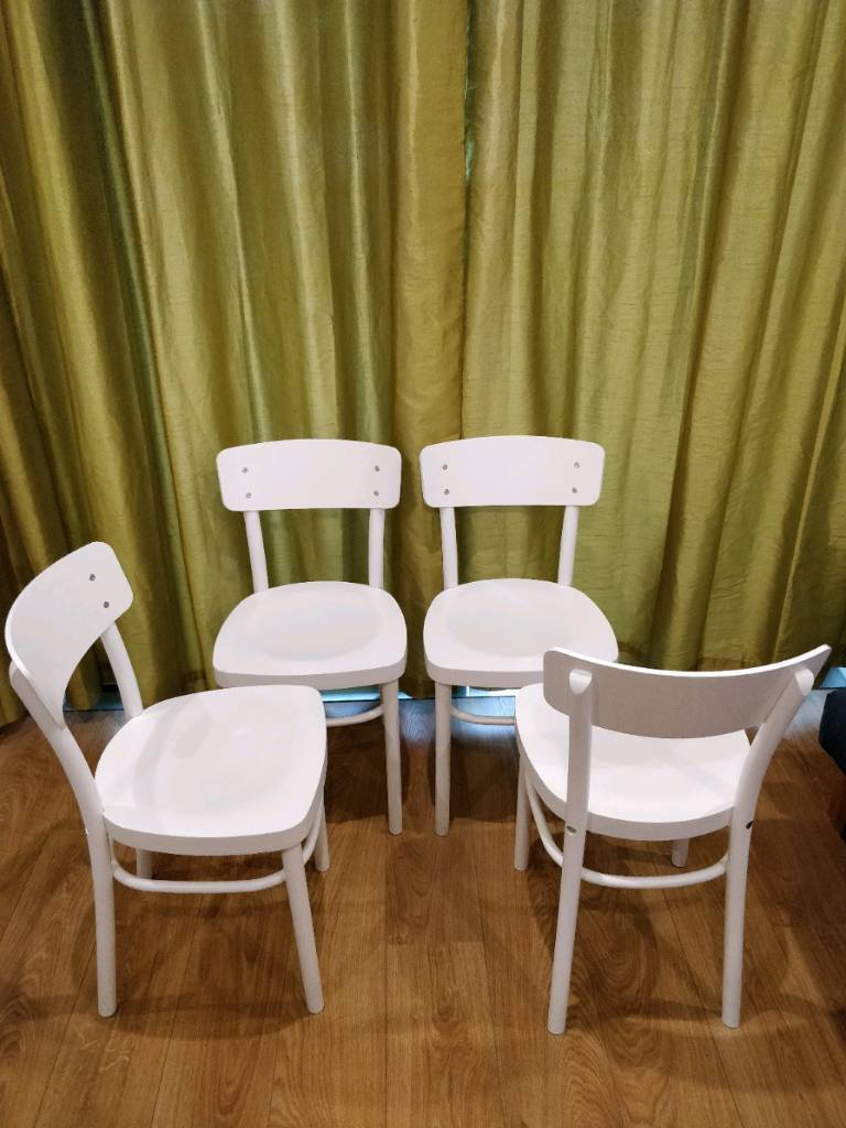 Wondrous 4 White Chairs Ikea Idolf In Mile End London Gumtree Alphanode Cool Chair Designs And Ideas Alphanodeonline