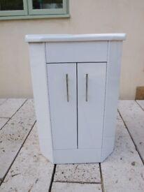 Brand New White Corner Basin Vanity Unit