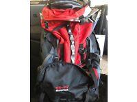 Deuter Aircontact 55 + 10 rucksack bag in red