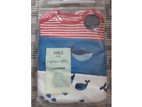 Organic cotton baby rompers (new) 3-6 months