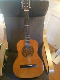 Three-quarter sized children's classical guitar, handmade, includes case
