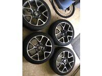 Vauxhall Corsa d vxr rep alloys and tyres
