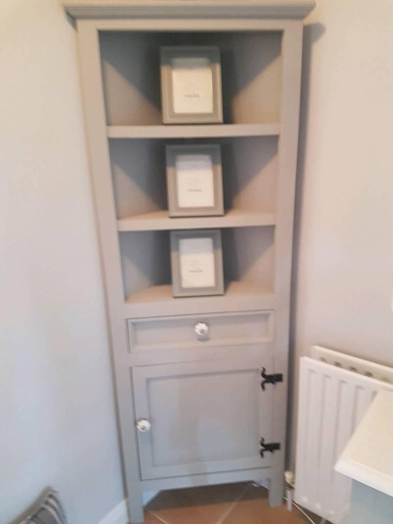 Grey corner unit painted in Annie sloan paid grey