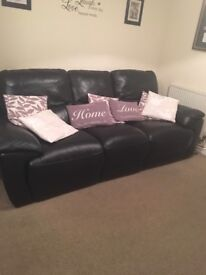 3 seater leather recliner and 2 seater rocking recliner