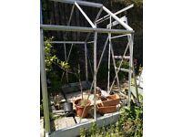 6X4 greenhouse frame with door £40
