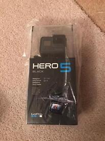GoPro hero 5 black with accessories and mounts