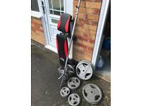 100kg Tri-Grip Weights and Folding Bench