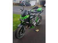 KAWASAKI Z800 - 2013 - LOW MILEAGE - 4000 MILES - AS NEW - AKRAPOVIC - R&G TAIL TIDY - FLYSCREEN