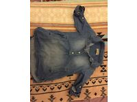 NEXT 6-9 month Jean shirt/tunic