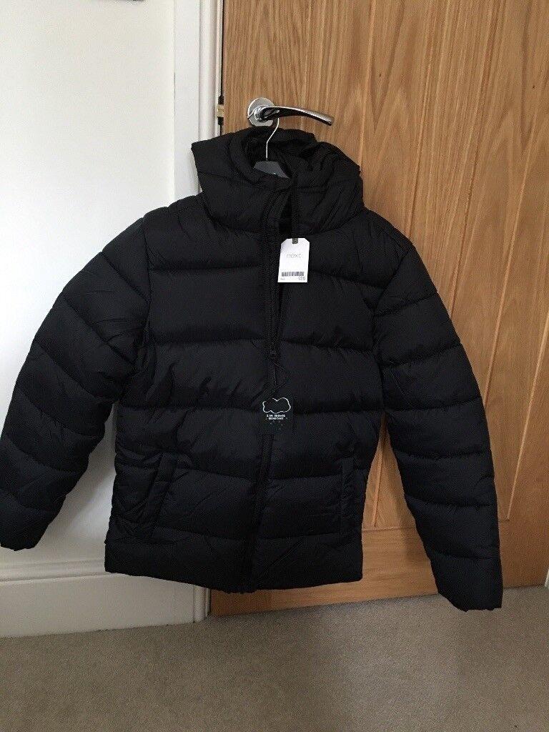 f2355905c BNWT boys Next black padded winter jacket   coat. Age 14 years