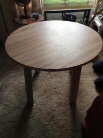 Lovely large light solid oak coffee table