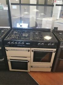 #7750 LEISURE 100CM DUAL FUEL COOKER 6 MNTHS WARRANTY