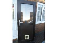 UPVC Double Glazed Front/Back Door and frame with lock mechanism
