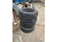 4 x New Dunlop Tyres W/ wheels