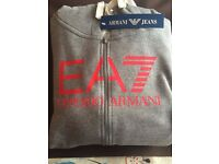 new with tags armani hoody tracksuit large