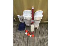 Cricket equipment bundle, NO OFFERS, (sports,hat,gloves)