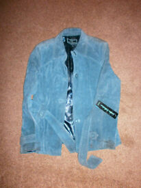 Real Suede Women Jacket Size UK 12. New with tag