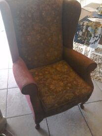 Wing backed Fireside traditional Armchair