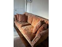 TWO MATCHING TRADITIONAL SOFA'S