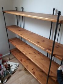 Shelving Unit/Pine/Cast Iron