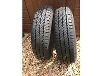 2 x Hancook tyres for a caravan 175 R 14C