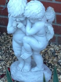 Gorgeous boy and girl statue