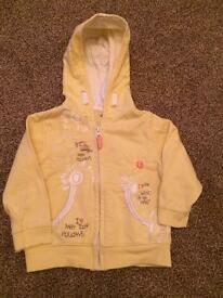 Yellow jacket/hoodie Age 9-12 months
