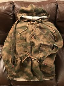 WW2 Pattern WH Army Tan & Water Hooded Combat Smock (Late War Pattern).