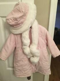 Girls Designer Coat Age 3