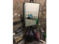 Hairdressers barbers styling mirror unit double