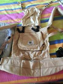 Ergobaby baby carrier with infant insert