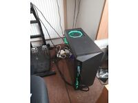 Gaming pc tower with extras