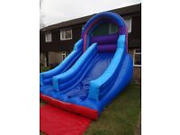 INFLATABLE BLUE/MULTI SLIDE 12ftx15ftx15ft - fan/pegs extra if required - own home/garden use only