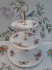 "Royal Albert ""Moss Rose"" XL cake stand"