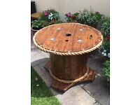 Recycled Cable drum table ideal for home garden, pub or bar 970mm38in diameter top, 730mm29in height